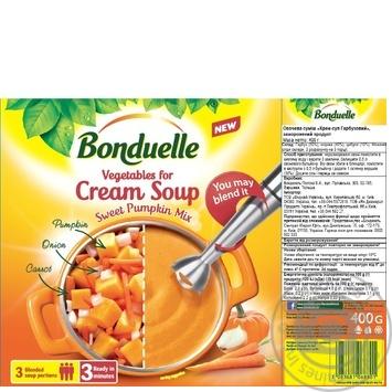 Bonduelle pumpkin frozen for soup vegetables 400g - buy, prices for MegaMarket - image 2