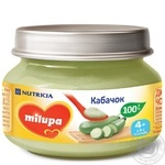 Пюре овощное Milupa Кабачок для детей от 4 месяцев 80г