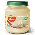 Puree Milupa with cauliflower for children from 4 months 125g glass jar