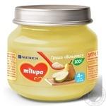 Пюре фруктовое Milupa Груша Вильямс для детей от 4 месяцев 80г