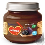 Puree Milupa prunes fruit for children from 4 months 100g glass jar