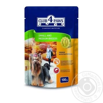 Корм Club 4 Paws для взрослых собак малых и средних пород 100г