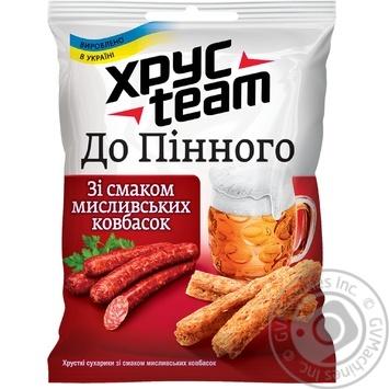 Сухарики До Пінного мисливські ковбаски ХрусTeam 30г