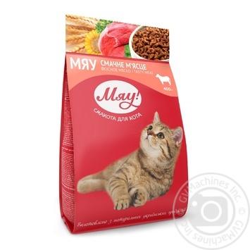 Корм сухой Мяу! для взрослых котов С мясом 400г - купить, цены на Novus - фото 1