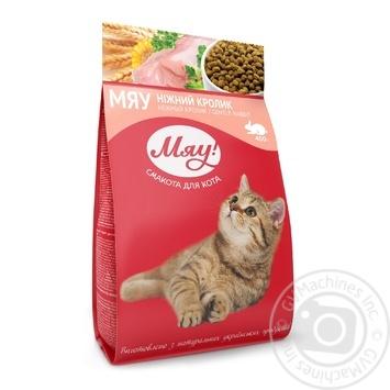Корм сухой Мяу! для взрослых котов С кроликом 400г - купить, цены на Novus - фото 1