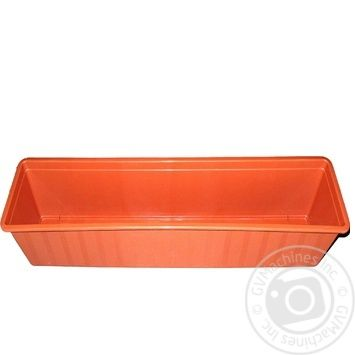 Ящик Агро для цветов балконный 80см - купить, цены на Ашан - фото 1