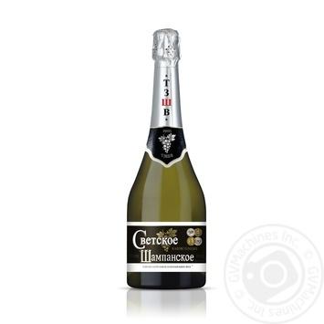 Шампанское Таирово Светское белое полусладкое 10,5-12,5% 0,75л