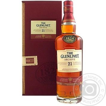 The Glenlivet 21YO Whisky 700ml gift box - buy, prices for Novus - image 1