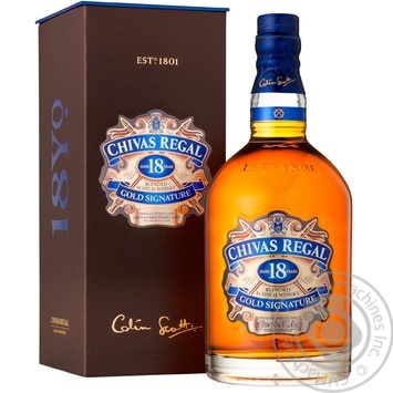 Chivas 18YO Whisky 1l gift box - buy, prices for Novus - image 1