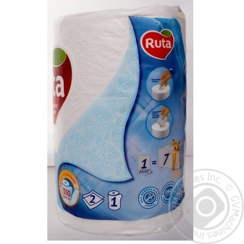 Ruta Max Paper towel 350 sheets 1pcs - buy, prices for Metro - image 8