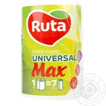 Ruta Max Paper towel 350 sheets 1pcs - buy, prices for Metro - image 1