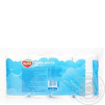 Ruta Pure Toilet Paper Three-layer White 8pcs - buy, prices for CityMarket - photo 7