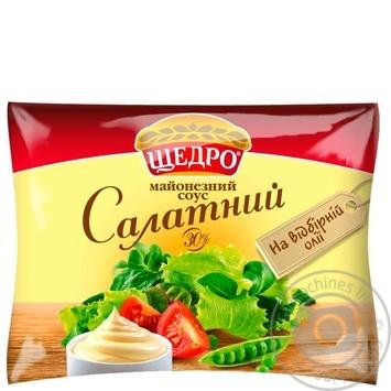 Майонезный соус Щедро Салатный 30% 190г - купить, цены на Novus - фото 1