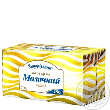 Zaporizkyi Molochnyi Special Margarine 70% 250g - buy, prices for Novus - image 2