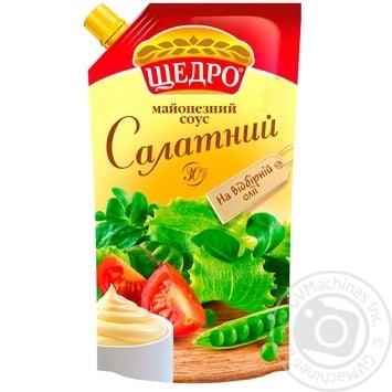 Скидка на Майонезный соус Щедро Салатный 30% 350г