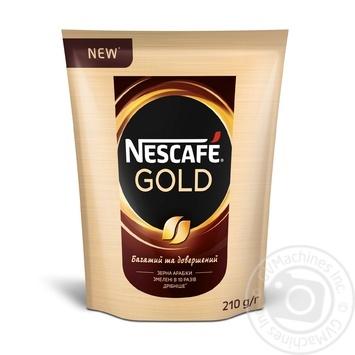 Кофе Nescafe Gold растворимый 210г