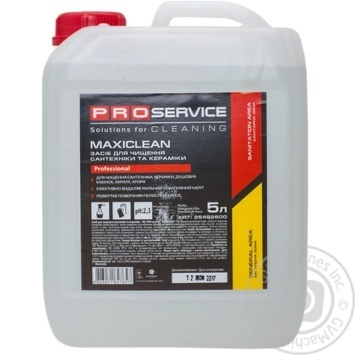 Pro Service Maxiclean Cleaner for sanitary ware and ceramics 5l - buy, prices for Metro - image 1