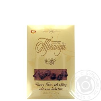 Biscuit-Chocolate Rose With Cream-Brulee Fillling Pralines 395g