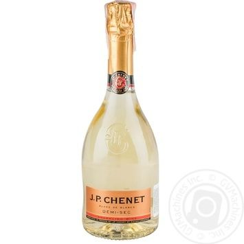 J.P.Chenet Blanc de Blancs Demi-Sec Semi-Dry White Sparkling Wine 13,5% 750ml - buy, prices for MegaMarket - image 1