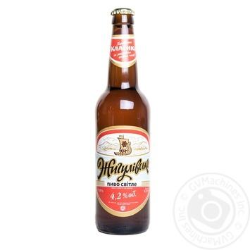 Пиво Оболонь Жигулевское светлое 4.2% 0,5л