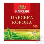 Чай черный Майский Царская Корона цейлонский байховый в пакетиках 100х2г