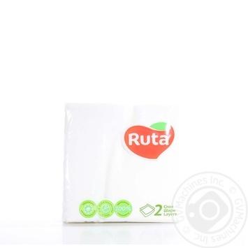Салфетки Ruta Double Luxe белые бумажные 2-слойные 24*24см 40шт - купить, цены на Novus - фото 2