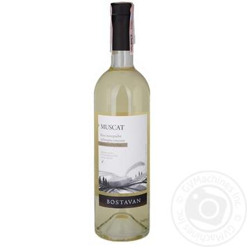 Bostavan Muscat white semi-sweet wine 11,5% 0,75l