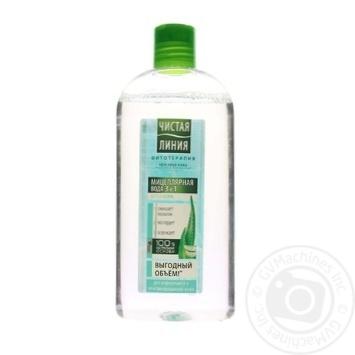 Мицеллярная вода Чистая линия Алоэ-вера для нормальной и комбинированной кожи 3в1 400мл