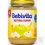 Puree Bebivita banana for children 190g glass jar