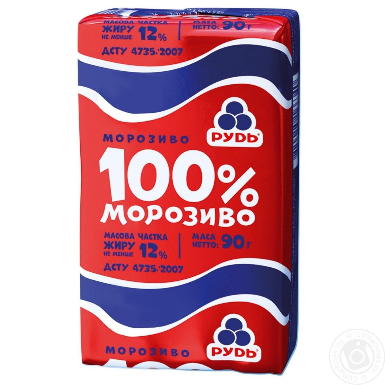 Мороженое Рудь 100% брикет 90г