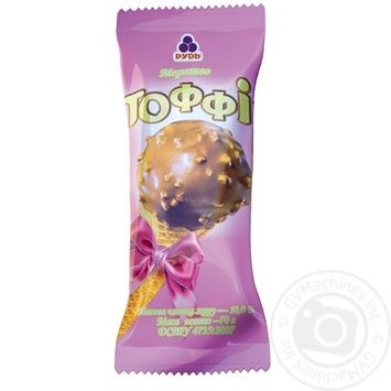 Мороженое Рудь Тоффи рожок 70г - купить, цены на Фуршет - фото 1