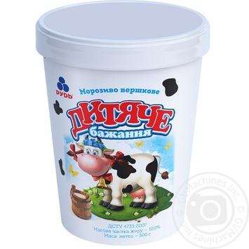 Мороженое Рудь Детское желание 500г - купить, цены на Novus - фото 1