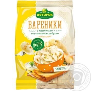 Вареники Хуторок селянский с картофелем и жареным луком замороженные 900г - купить, цены на Фуршет - фото 2