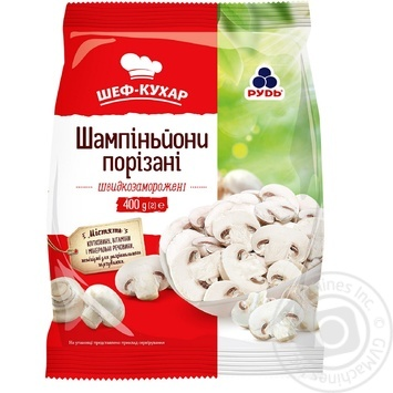 Rud frozen cut mushrooms 400g - buy, prices for Novus - image 1