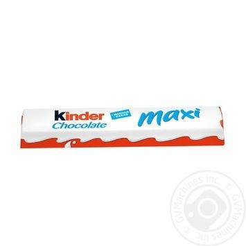 Шоколад молочный Kinder Chocolate Maxi с молочной начинкой 21г