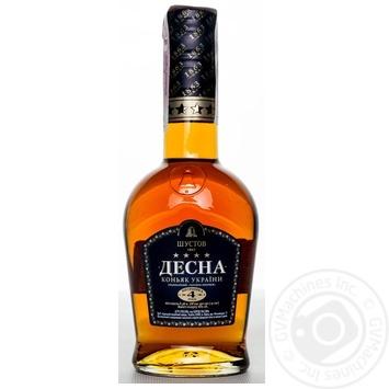 Shustov Desna Cognac 4* 0.25l - buy, prices for Novus - image 1