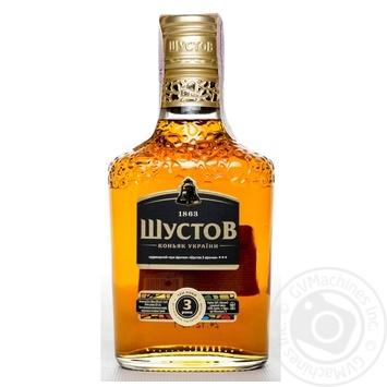 Shustov Ukrainian V.S. 3 Yrs Cognac 40% 0.25l - buy, prices for Novus - image 3