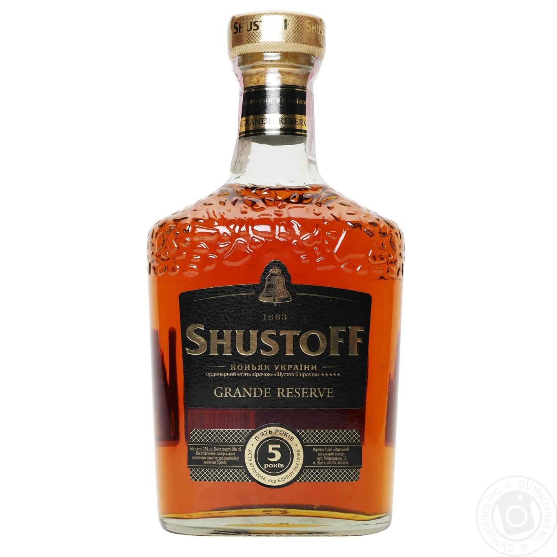 Shustov ukrainian cognac drinks 18 alcohol and for Cognac auchan