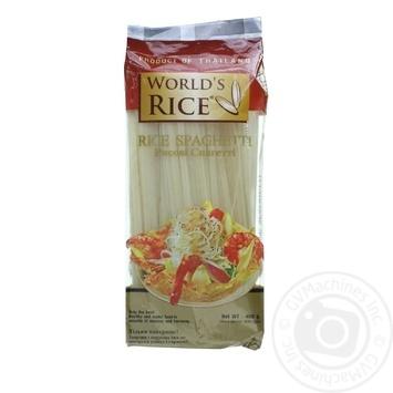 Макароны спагетти Ворлдc райс 400г