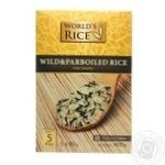 Groats rice wild rice World's rice long grain parboiled 400g cardboard box