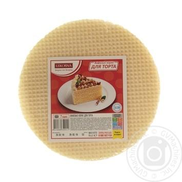 Скидка на Вафельные коржи для торта Lekorna 65г