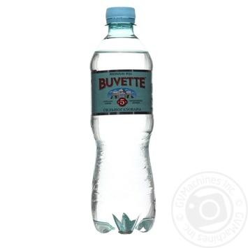 Вода мінеральна сильногазована лікувально-столова Buvette №5 0,5 л п/пл