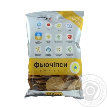 Фьючипсы золотые из семян льна сушеные Фьючефуд 120г - купить, цены на Novus - фото 1
