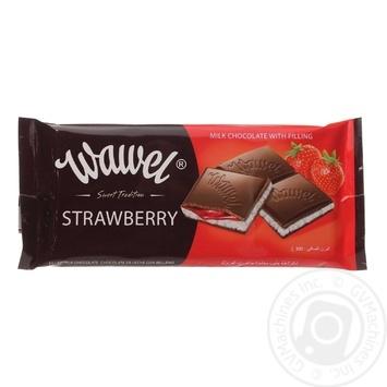 Шоколад молочный Wawel с клубнично-йогурт начинкой 100г