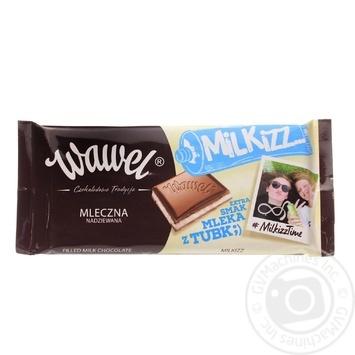 Шоколад молочный Wawel с молочной начинкой 47% 100г