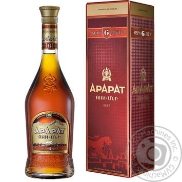 Коньяк Ararat Aни 6 лет 40% 0,5л - купить, цены на Novus - фото 1