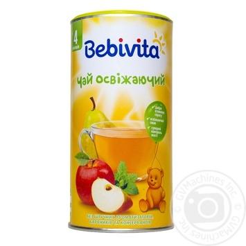 Чай Бебивита Освежающий детский быстрорастворимый с фруктами и мелиссой с 6 месяцев 200г