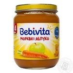 Bebivita for children from 4 months apple-carrot pure 125ml