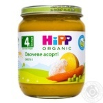 Puree HiPP vegetable mix salt free with with omega-3 fatty acids for 4+ months babies 125g