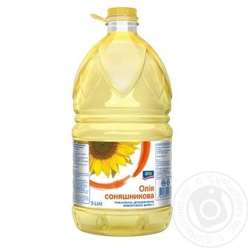 Масло подсолнечное Aro рафинированное 5л